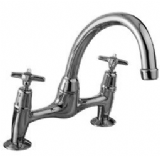 Perfoma Cross Top 2 Tap Hole Bridge Sink Mixer - 58004330